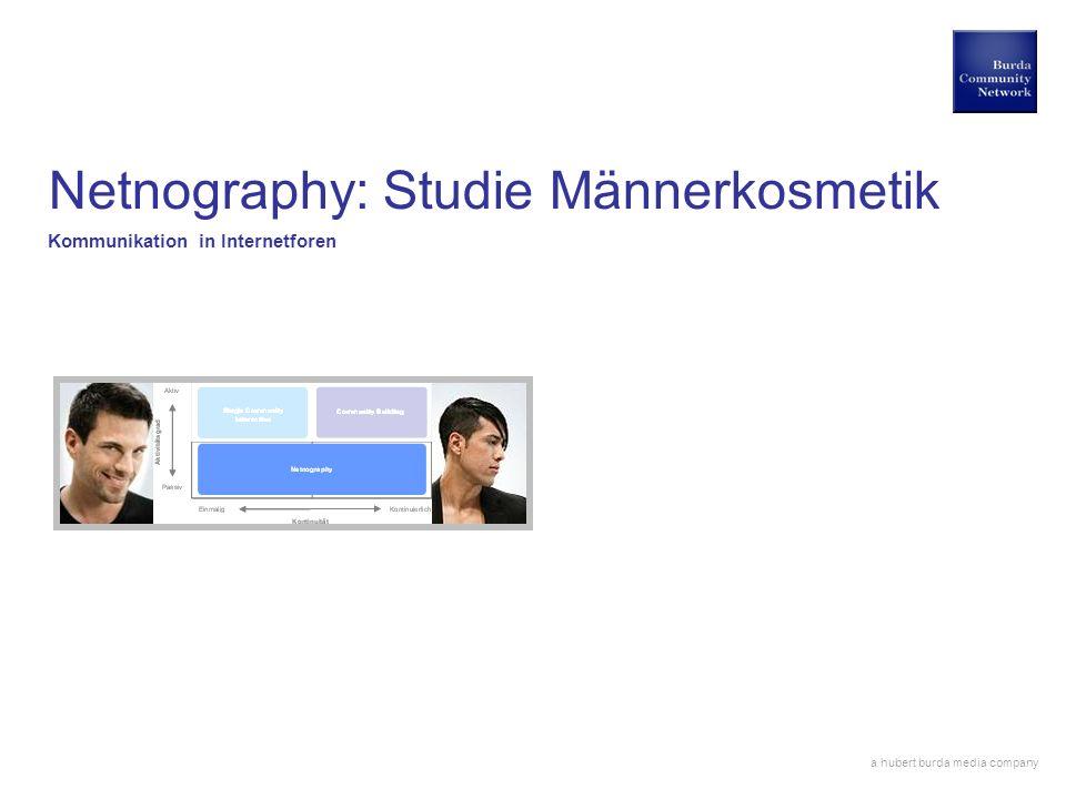 Netnography: Studie Männerkosmetik