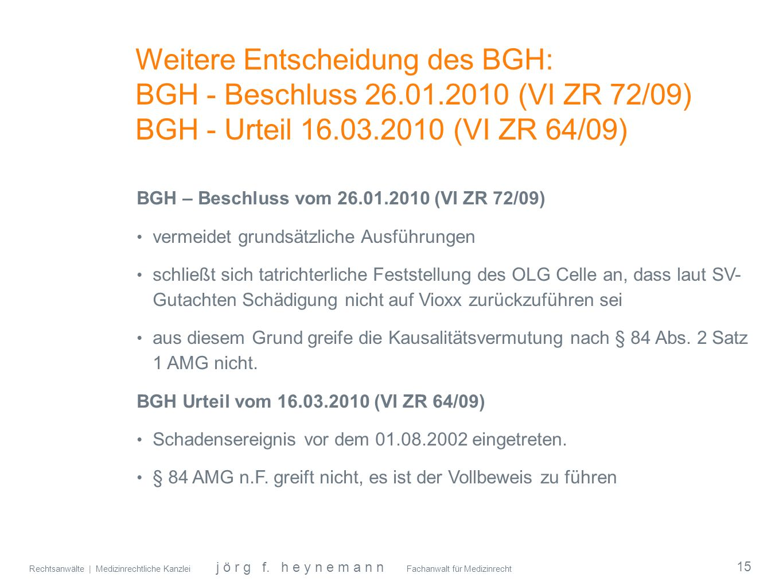 Weitere Entscheidung des BGH: BGH - Beschluss 26. 01