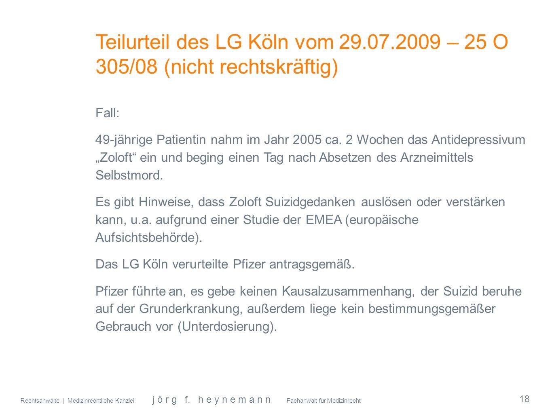 Teilurteil des LG Köln vom 29. 07