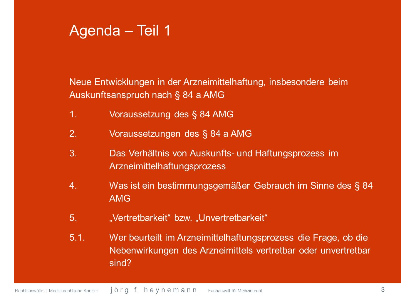 Agenda – Teil 1