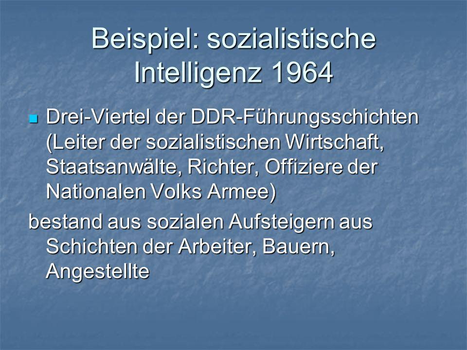 Beispiel: sozialistische Intelligenz 1964