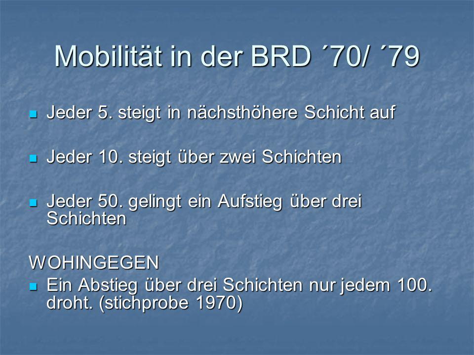 Mobilität in der BRD ´70/ ´79