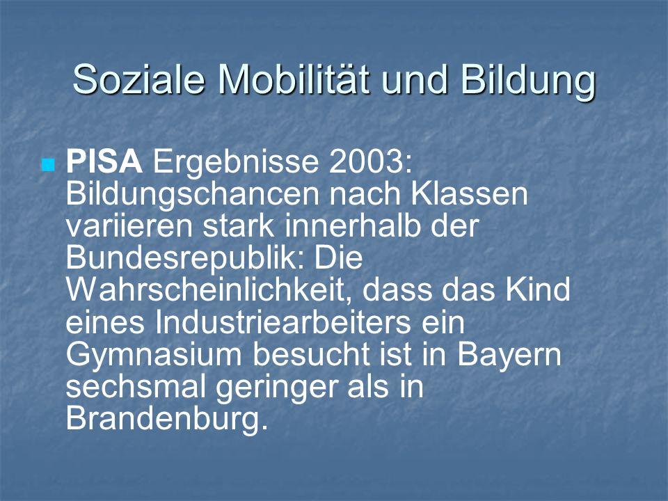 Soziale Mobilität und Bildung