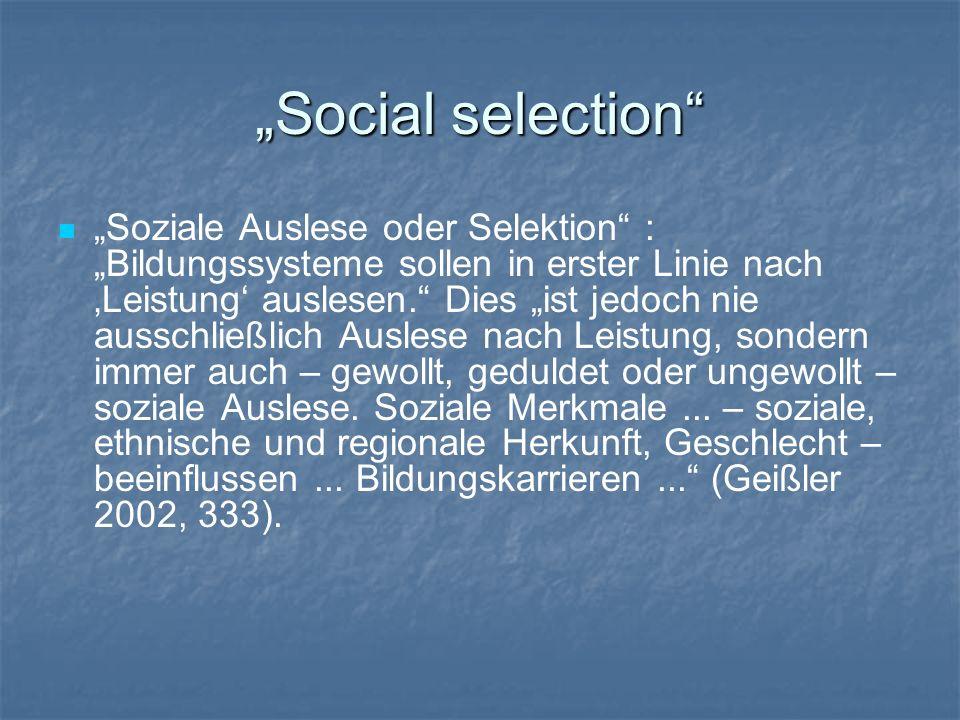 """Social selection"