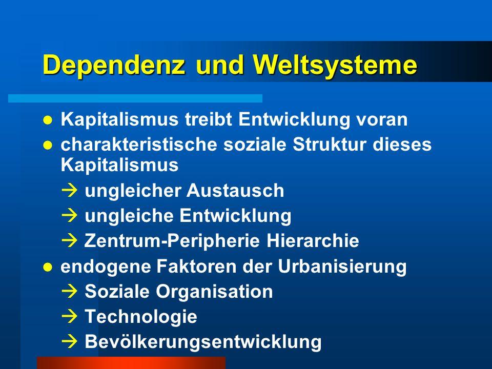 Dependenz und Weltsysteme