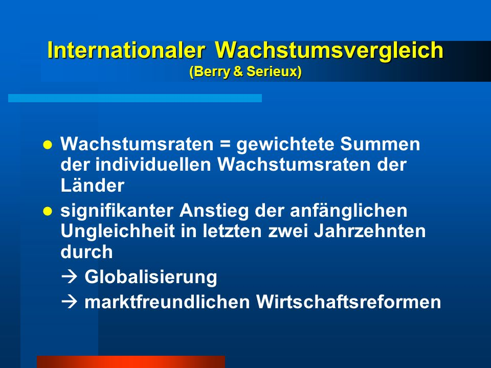 Internationaler Wachstumsvergleich (Berry & Serieux)