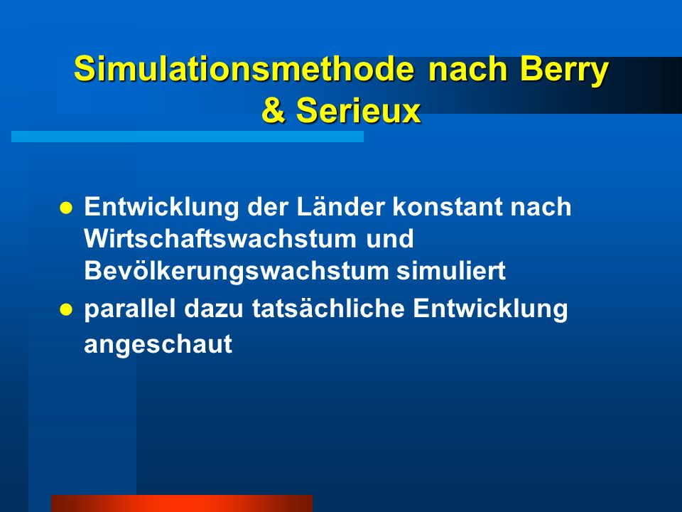 Simulationsmethode nach Berry & Serieux