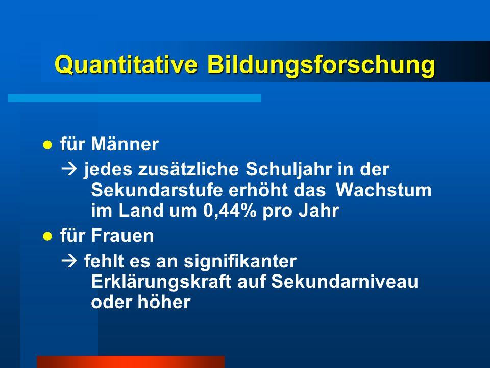 Quantitative Bildungsforschung