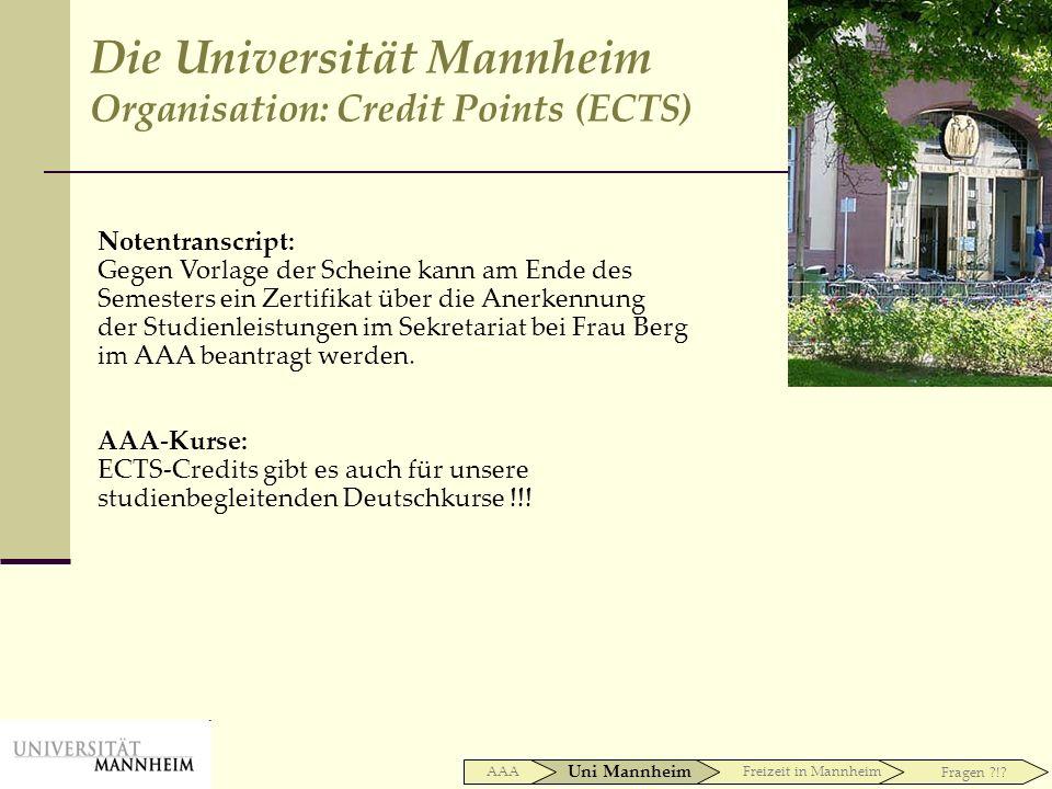 Die Universität Mannheim