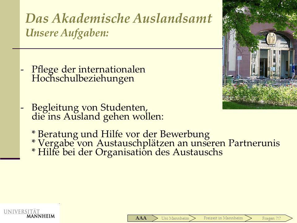 Das Akademische Auslandsamt