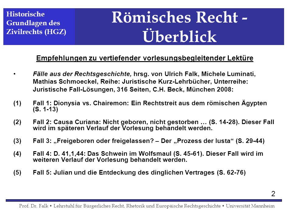 Römisches Recht - Überblick