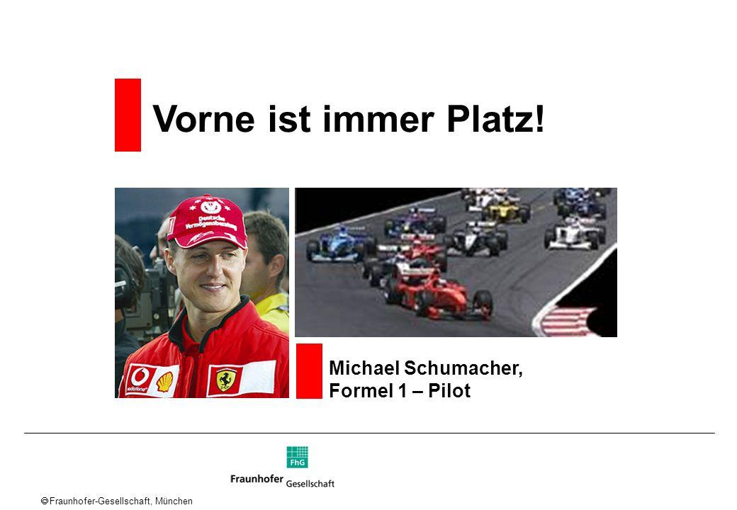 Vorne ist immer Platz! Michael Schumacher, Formel 1 – Pilot