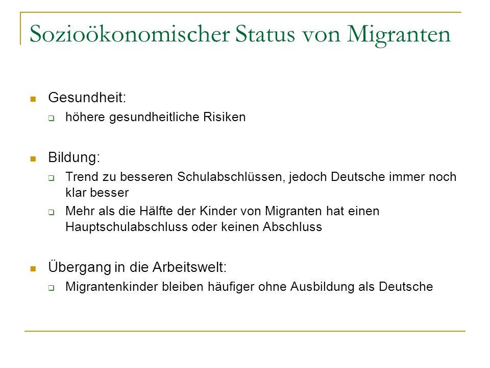 Sozioökonomischer Status von Migranten
