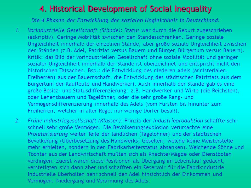4. Historical Development of Social Inequality