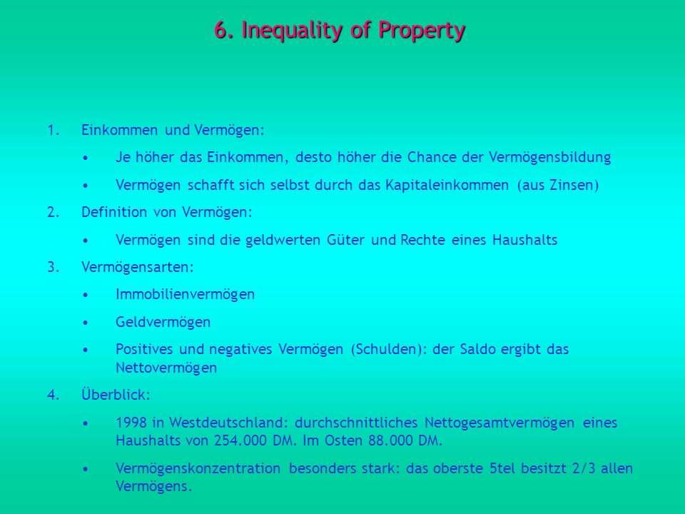 6. Inequality of Property