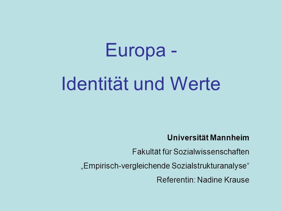 Europa - Identität und Werte Universität Mannheim