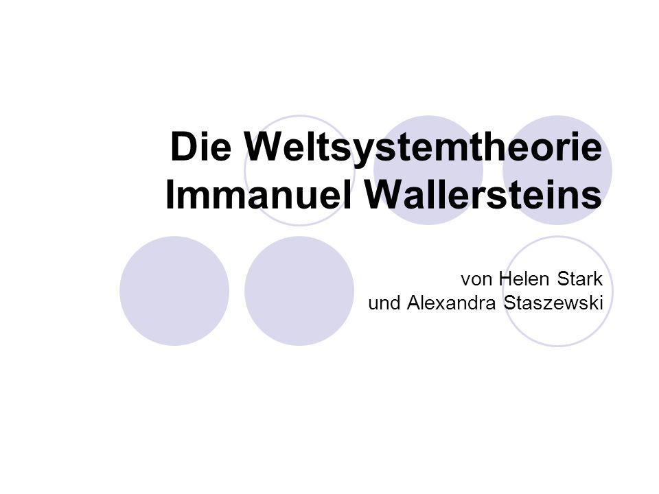 Die Weltsystemtheorie Immanuel Wallersteins