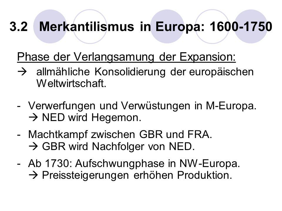 3.2 Merkantilismus in Europa: 1600-1750