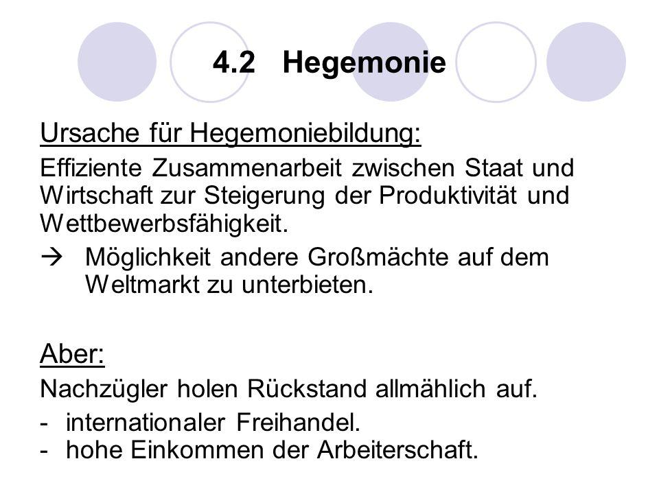 4.2 Hegemonie Ursache für Hegemoniebildung: Aber: