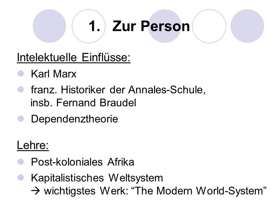 1. Zur Person Intelektuelle Einflüsse: Lehre: Karl Marx