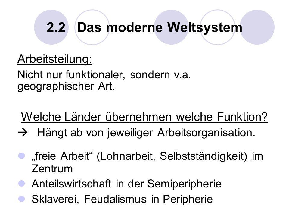 2.2 Das moderne Weltsystem