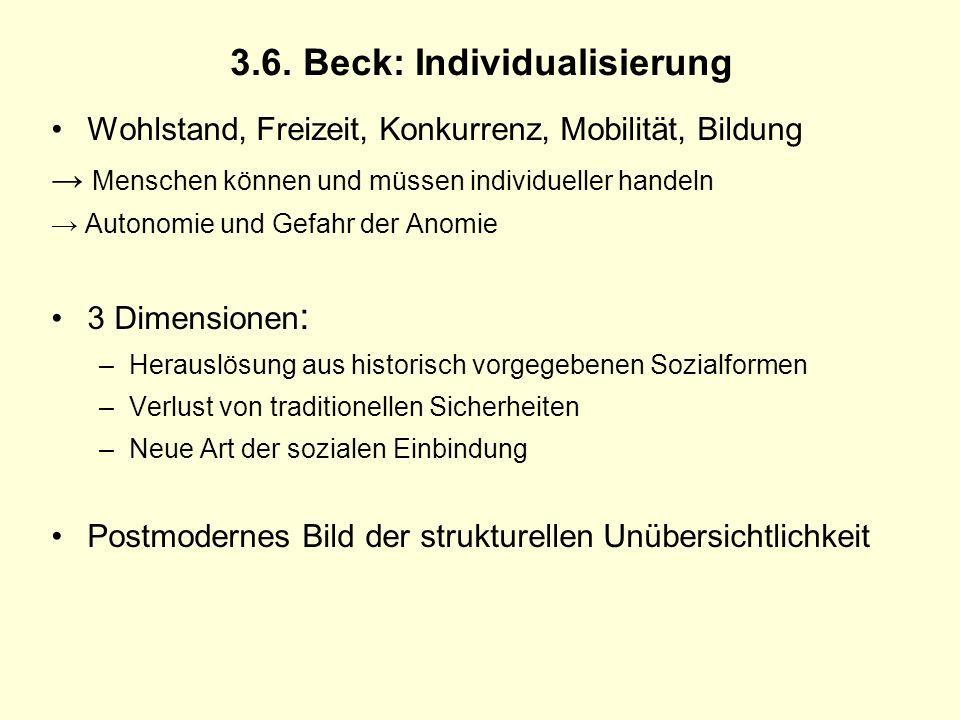 3.6. Beck: Individualisierung