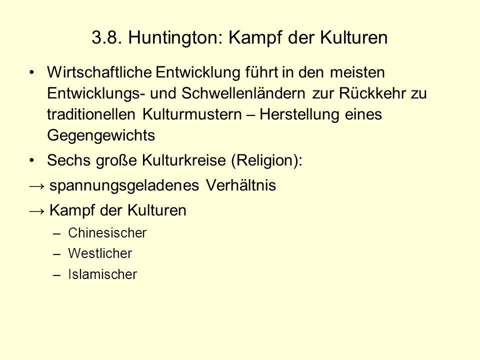 3.8. Huntington: Kampf der Kulturen