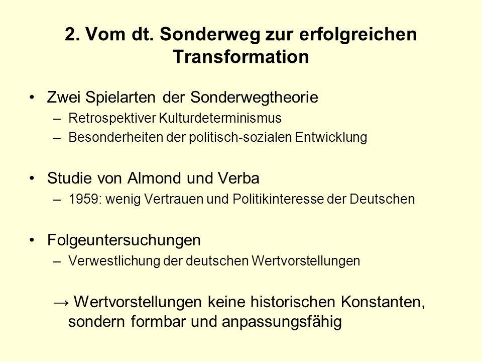 2. Vom dt. Sonderweg zur erfolgreichen Transformation