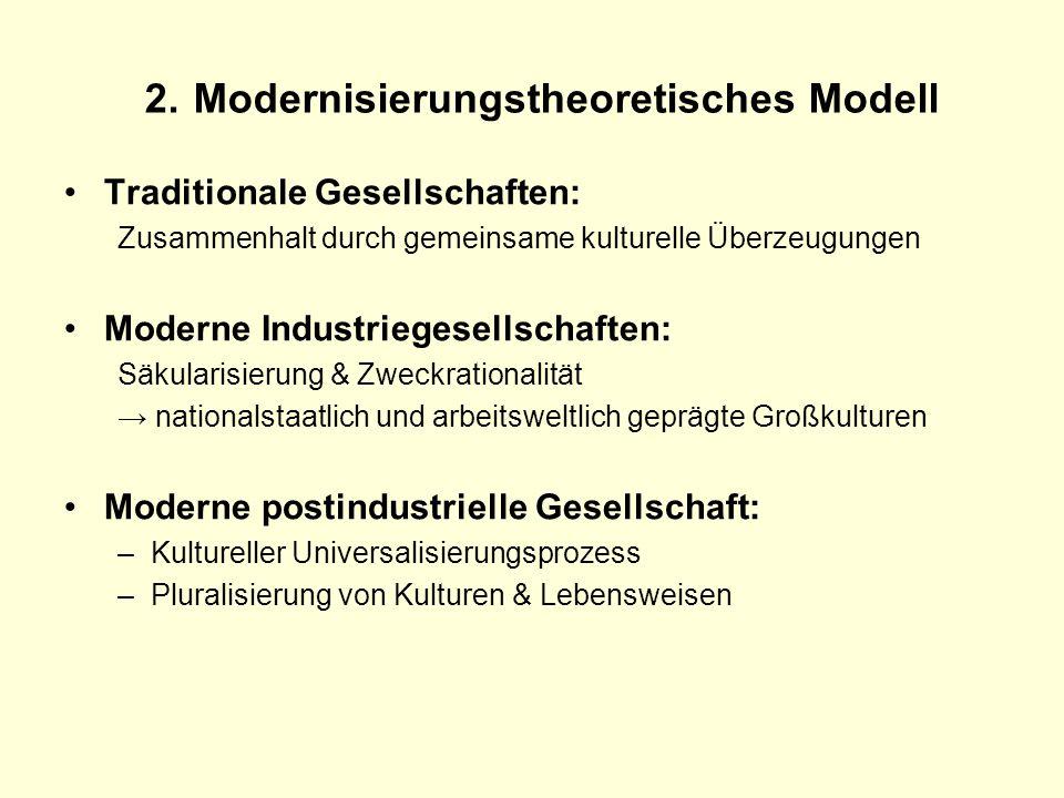 2. Modernisierungstheoretisches Modell