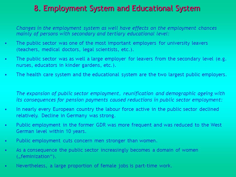 8. Employment System and Educational System