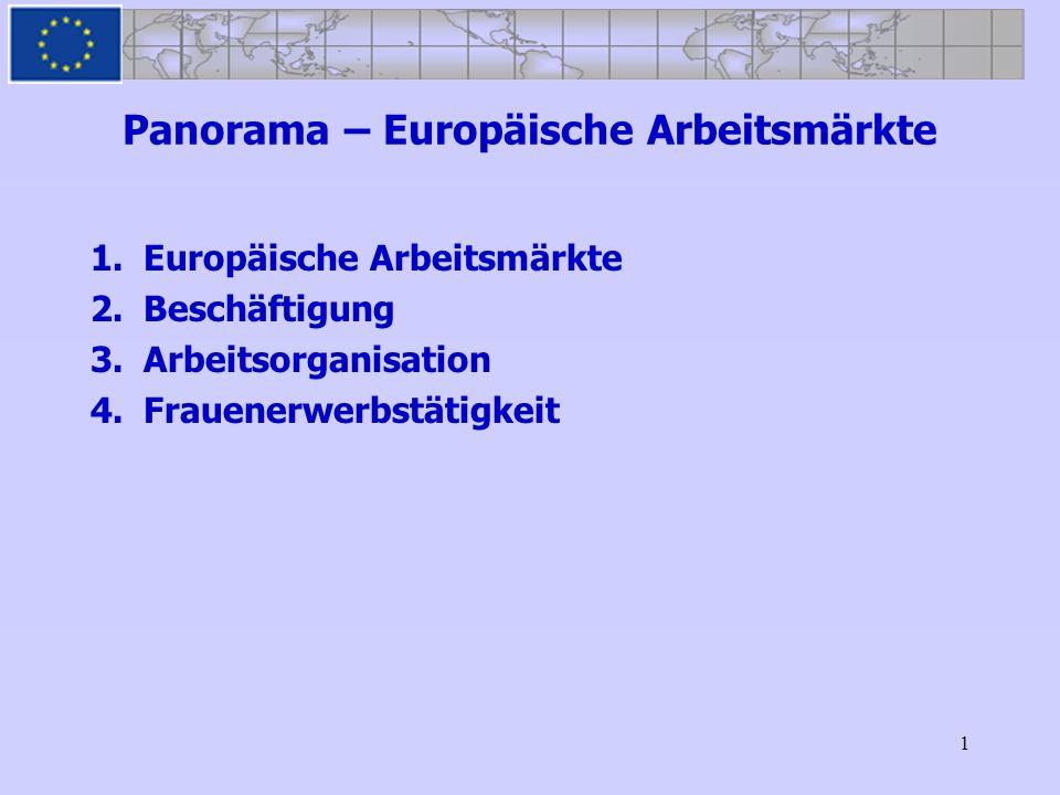 Panorama – Europäische Arbeitsmärkte