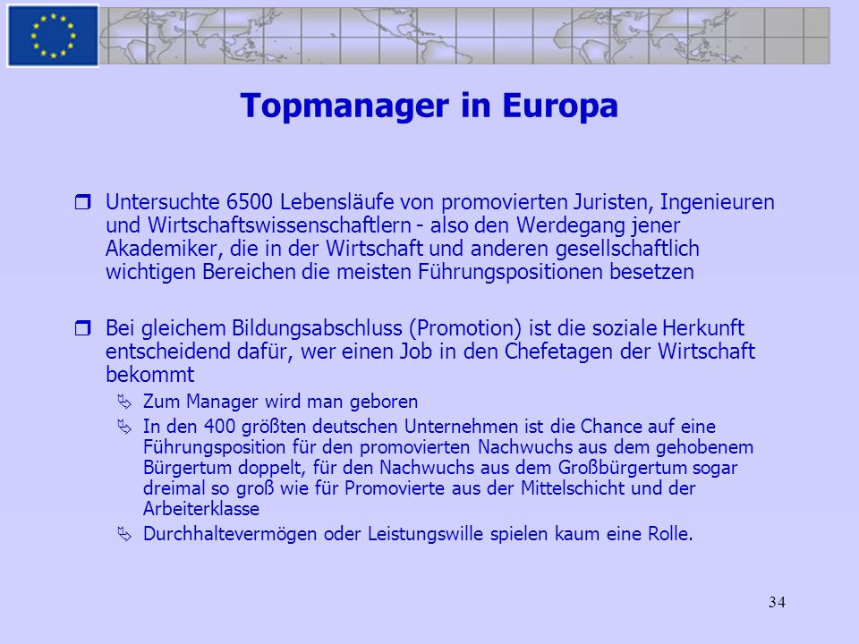 Topmanager in Europa
