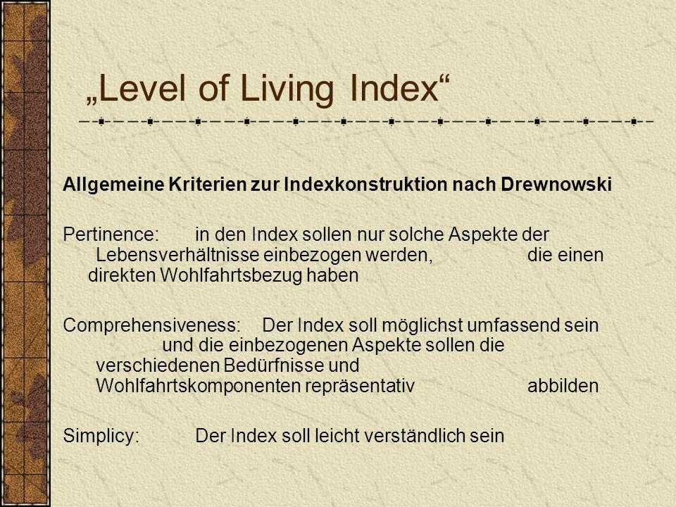 """Level of Living Index"
