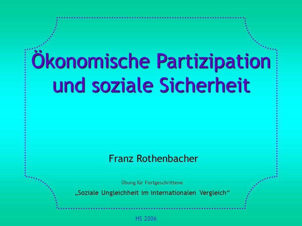 Ökonomische Partizipation und soziale Sicherheit