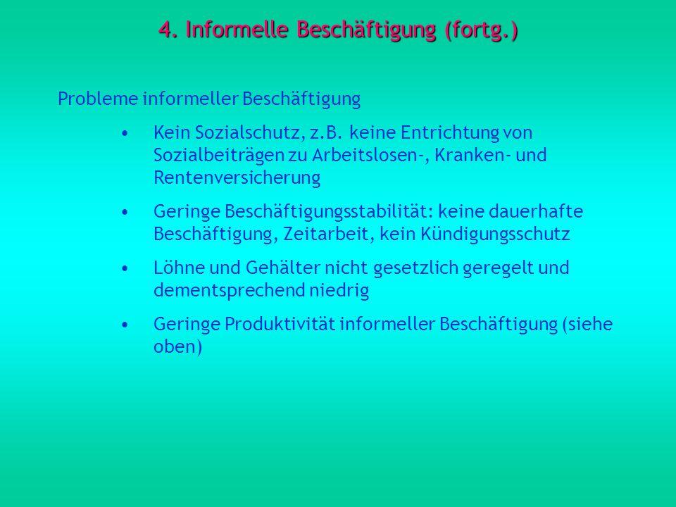 4. Informelle Beschäftigung (fortg.)