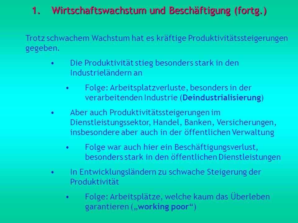 Wirtschaftswachstum und Beschäftigung (fortg.)