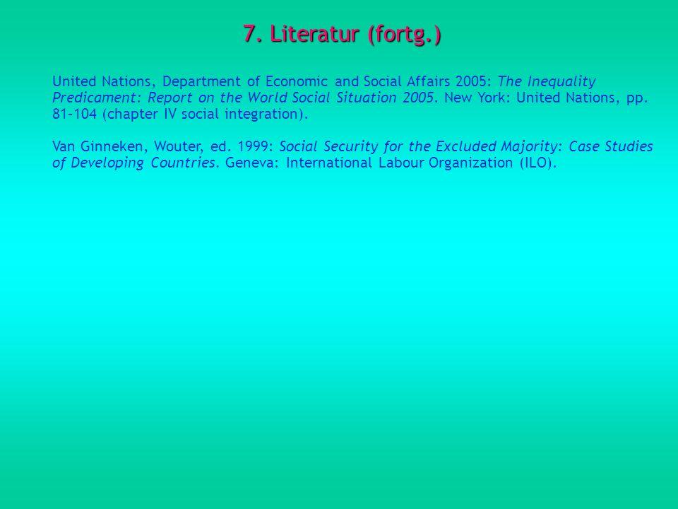 7. Literatur (fortg.)