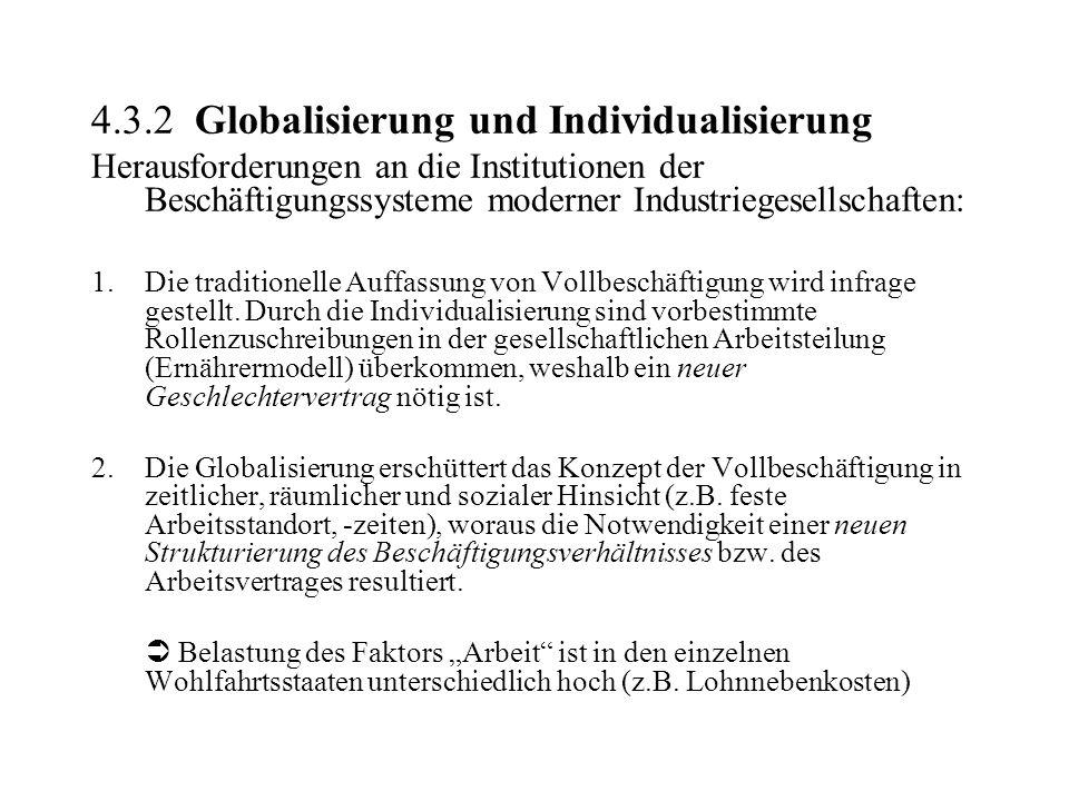 4.3.2 Globalisierung und Individualisierung