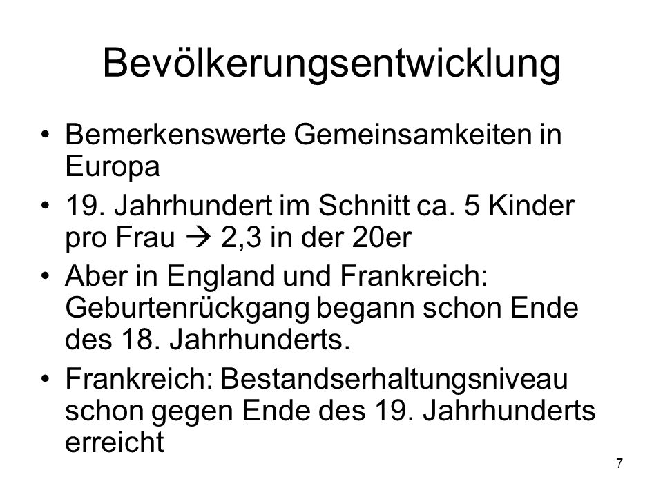 Bevölkerungsentwicklung