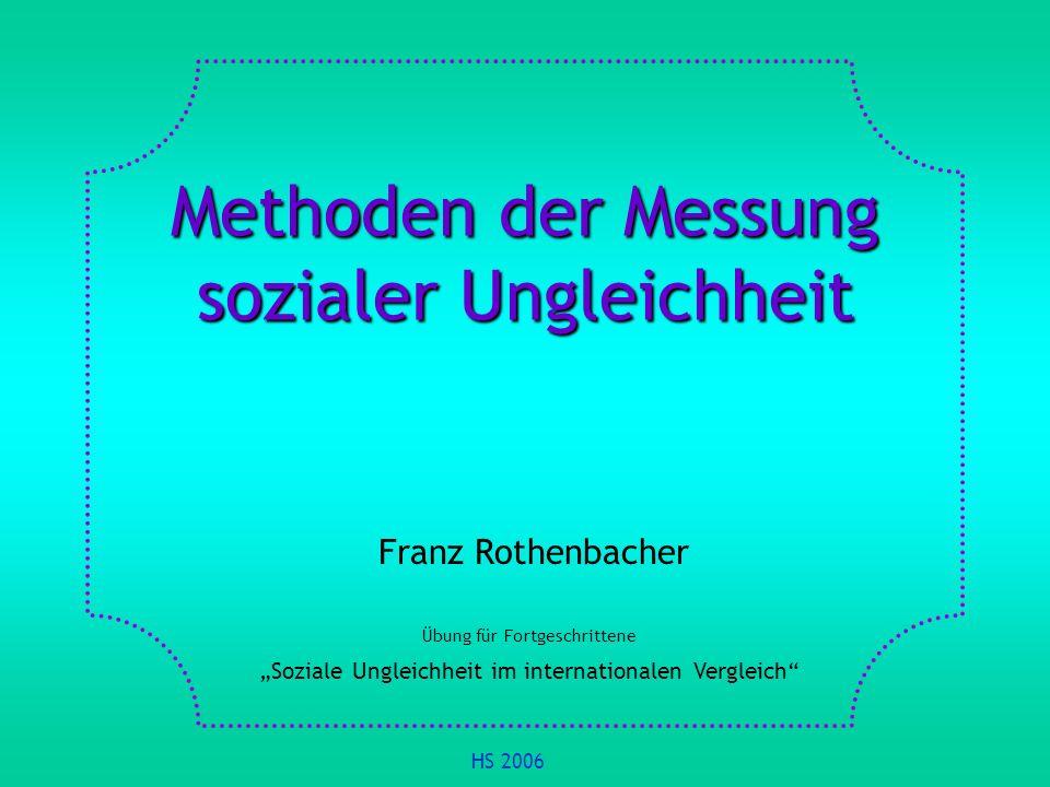 Methoden der Messung sozialer Ungleichheit