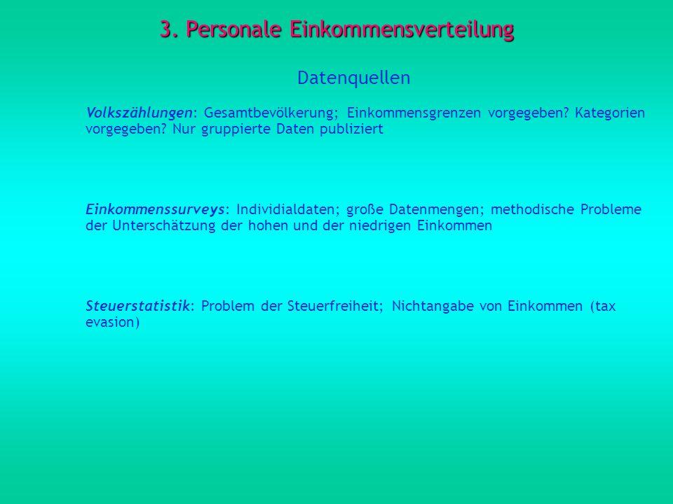3. Personale Einkommensverteilung