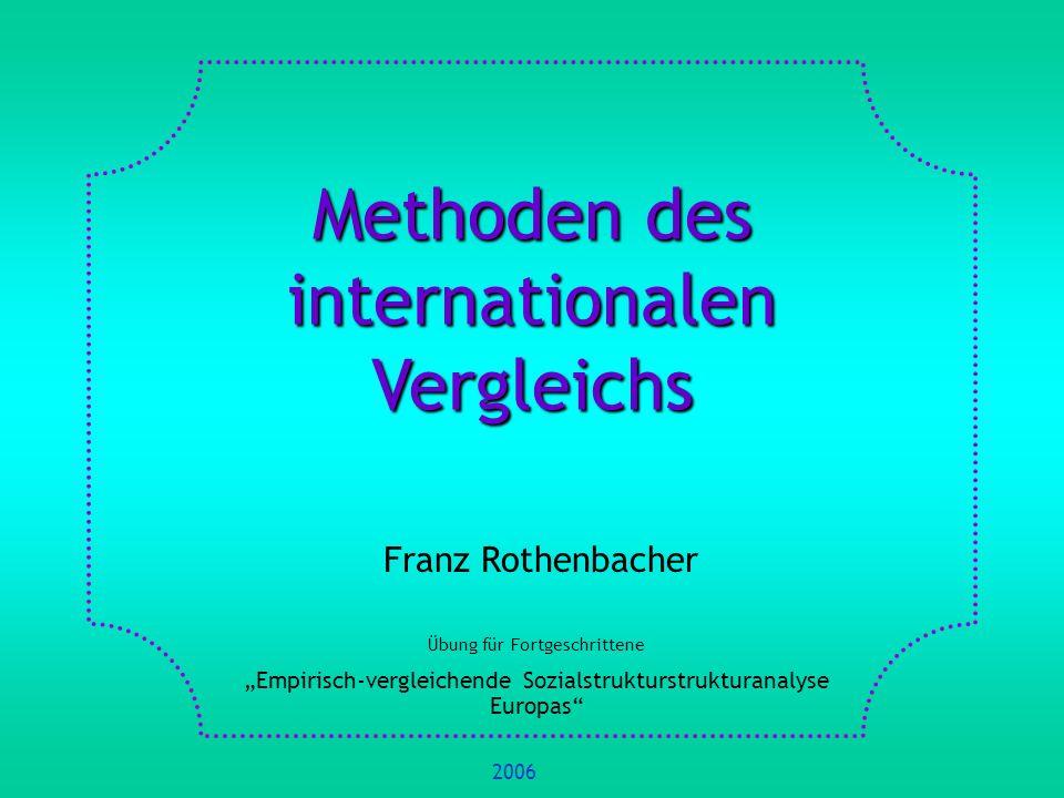 Methoden des internationalen Vergleichs
