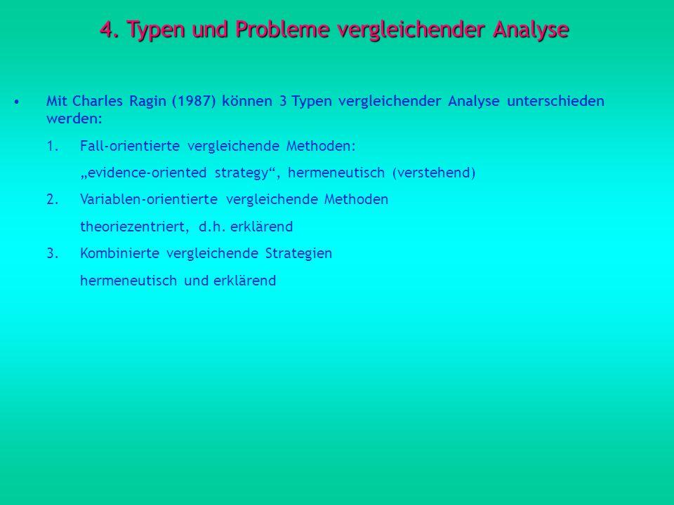 4. Typen und Probleme vergleichender Analyse