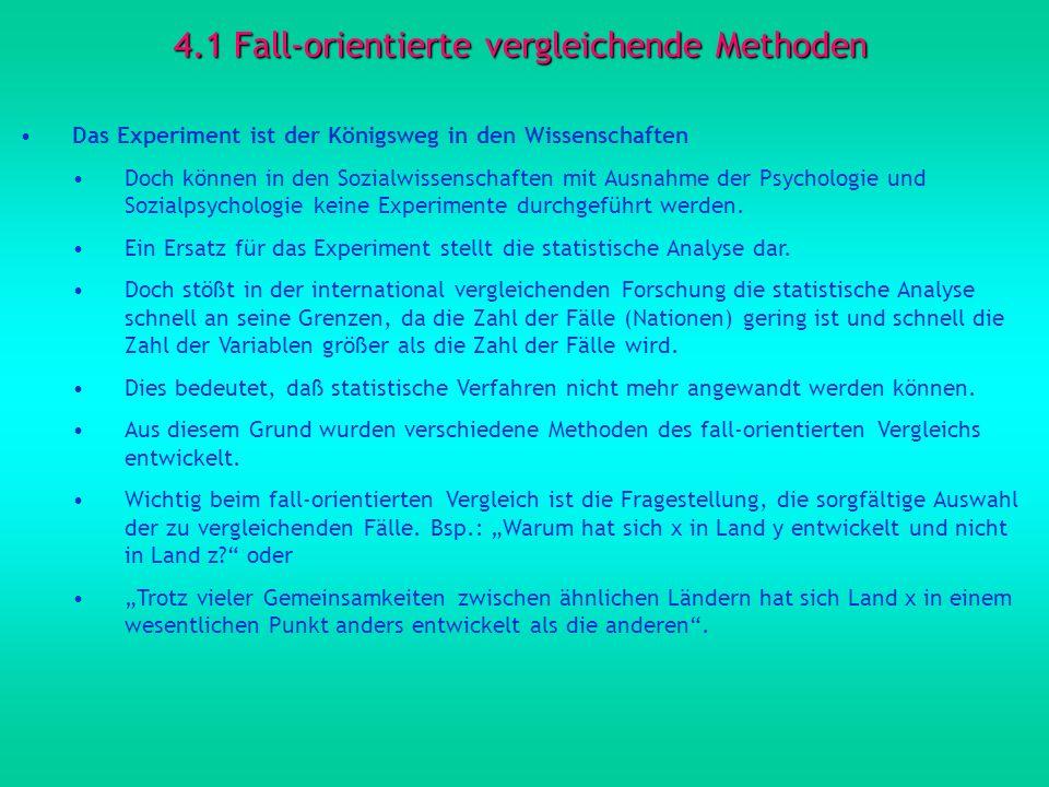 4.1 Fall-orientierte vergleichende Methoden