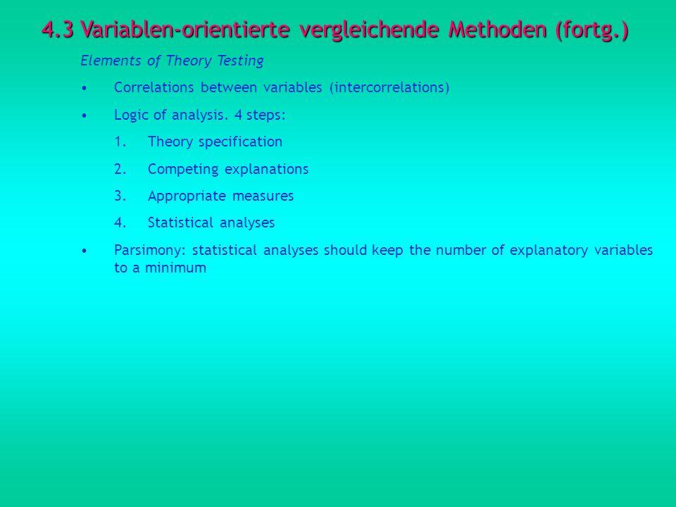 4.3 Variablen-orientierte vergleichende Methoden (fortg.)
