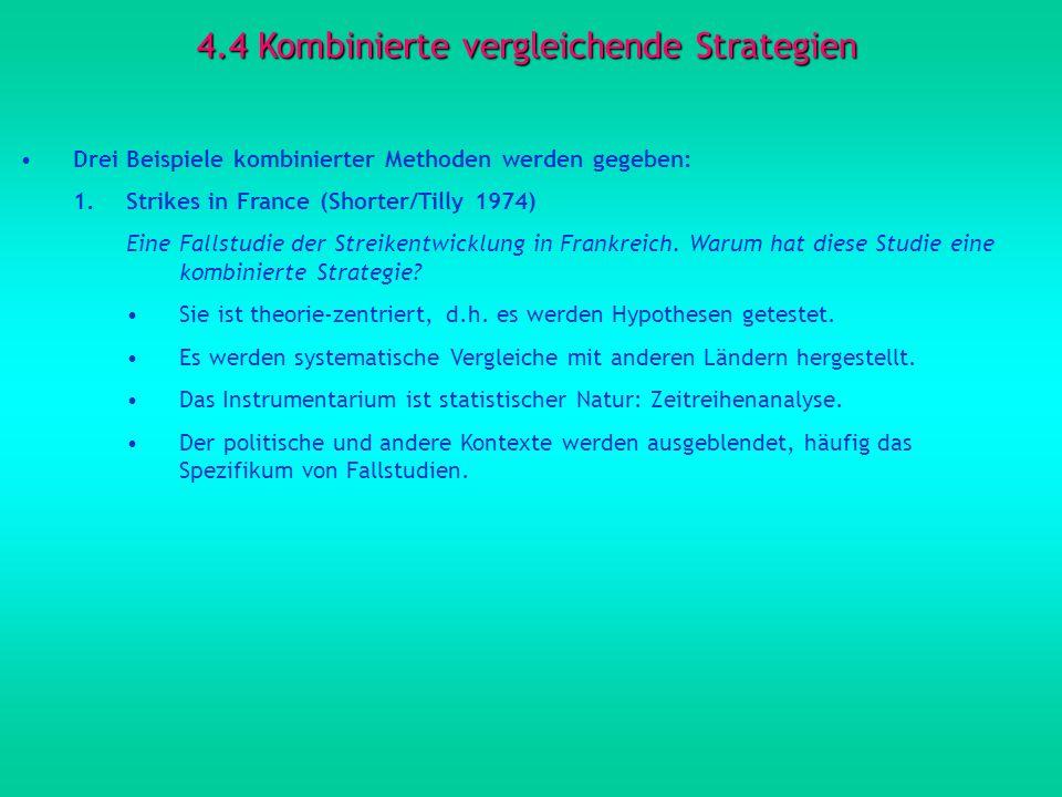 4.4 Kombinierte vergleichende Strategien
