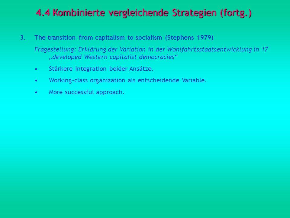 4.4 Kombinierte vergleichende Strategien (fortg.)