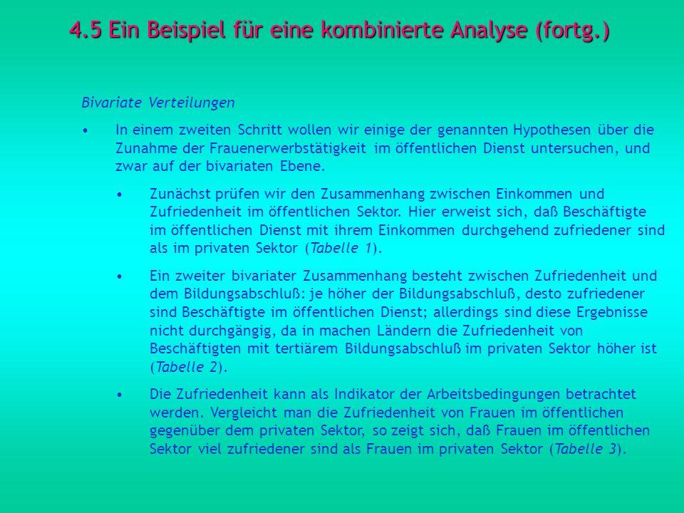 4.5 Ein Beispiel für eine kombinierte Analyse (fortg.)