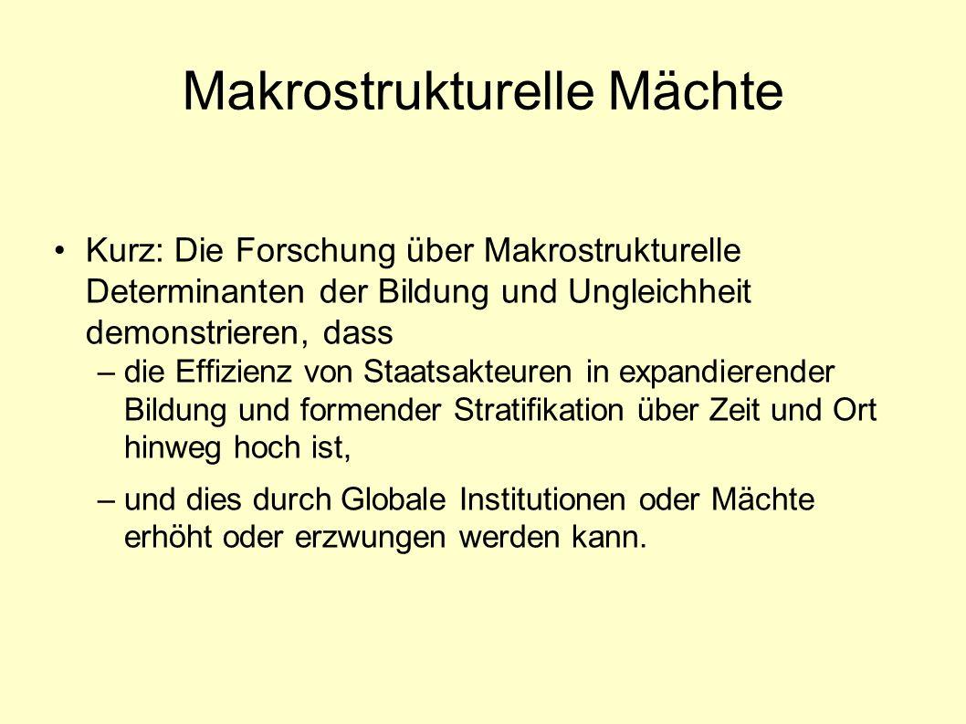 Makrostrukturelle Mächte