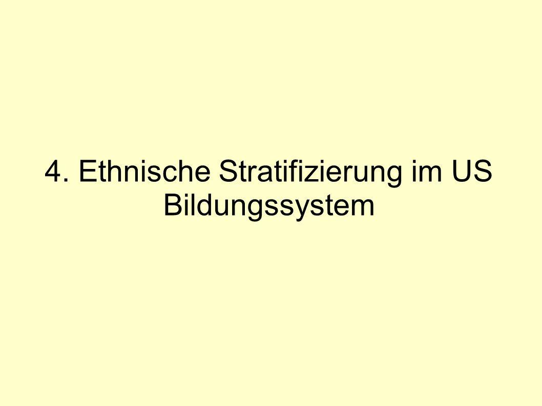 4. Ethnische Stratifizierung im US Bildungssystem